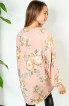 Be My Darling Pink Floral Print Tunic Top 2