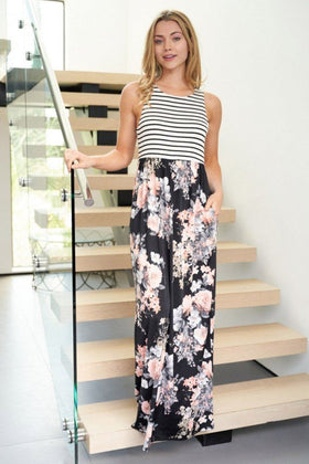 Beautiful Stranger Black Floral Print Maxi Dress 1