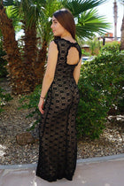Beauty And Grace Black Sequin Lace Maxi Dress 2