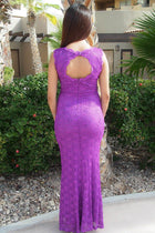 Beauty And Grace Purple Sequin Lace Maxi Dress 2