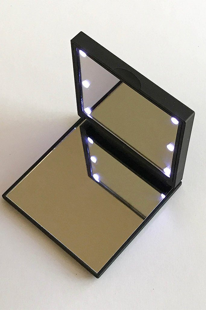 Black Flo Led Lights Compact Mirror 4