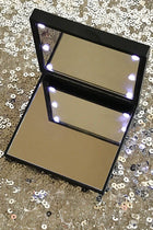 Black Flo Led Lights Compact Mirror 1
