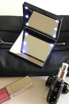 Black Flo Led Lights Compact Mirror 2