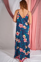 Bloom With A View Navy Blue Floral Print Maxi Dress 2