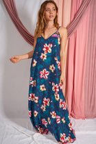 Bloom With A View Navy Blue Floral Print Maxi Dress 4