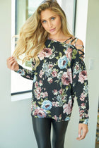 Blossom Into Beauty Black Floral Print Top 3