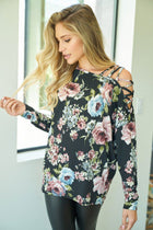Blossom Into Beauty Black Floral Print Top 4