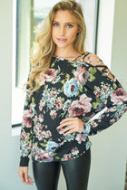 Blossom Into Beauty Black Floral Print Top 1
