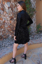 Capture My Attention Black Velvet Cutout Shift Dress 2