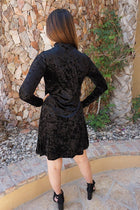 Capture My Attention Black Velvet Cutout Shift Dress 3