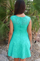 Capturing The Moment Mint Green Floral Lace Skater Dress 3