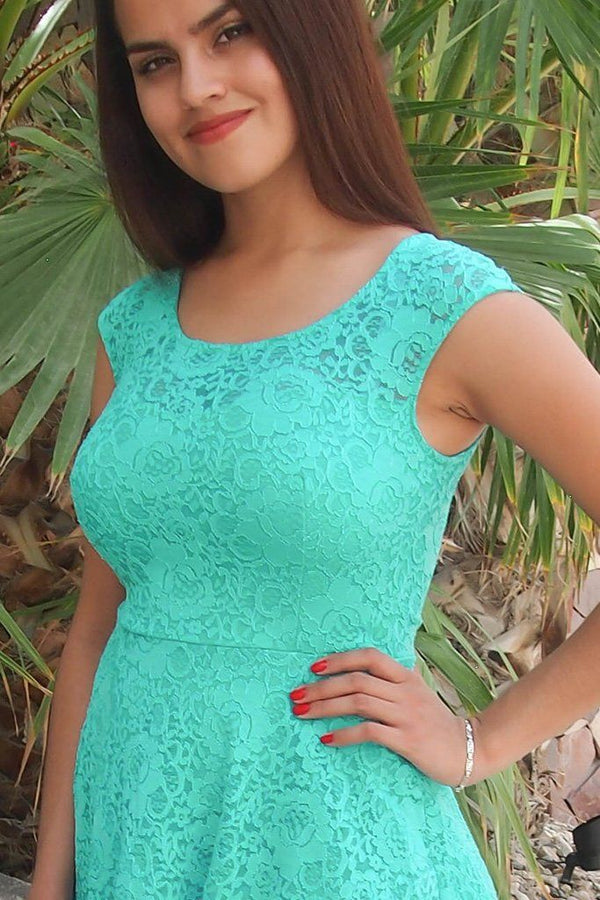 Capturing The Moment Mint Green Floral Lace Skater Dress 2
