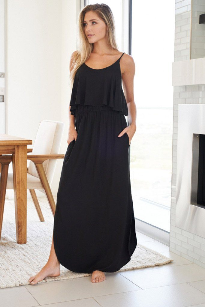 Casual Obsession Black Maxi Dress 4