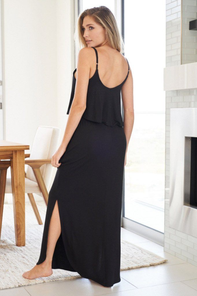Casual Obsession Black Maxi Dress 2