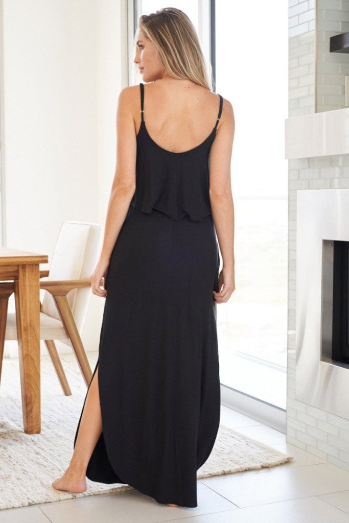 Casual Obsession Black Maxi Dress 3