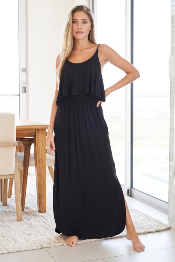 Casual Obsession Black Maxi Dress 1