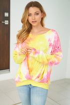 Catch These Rays Yellow Multi Tie Dye Top 3