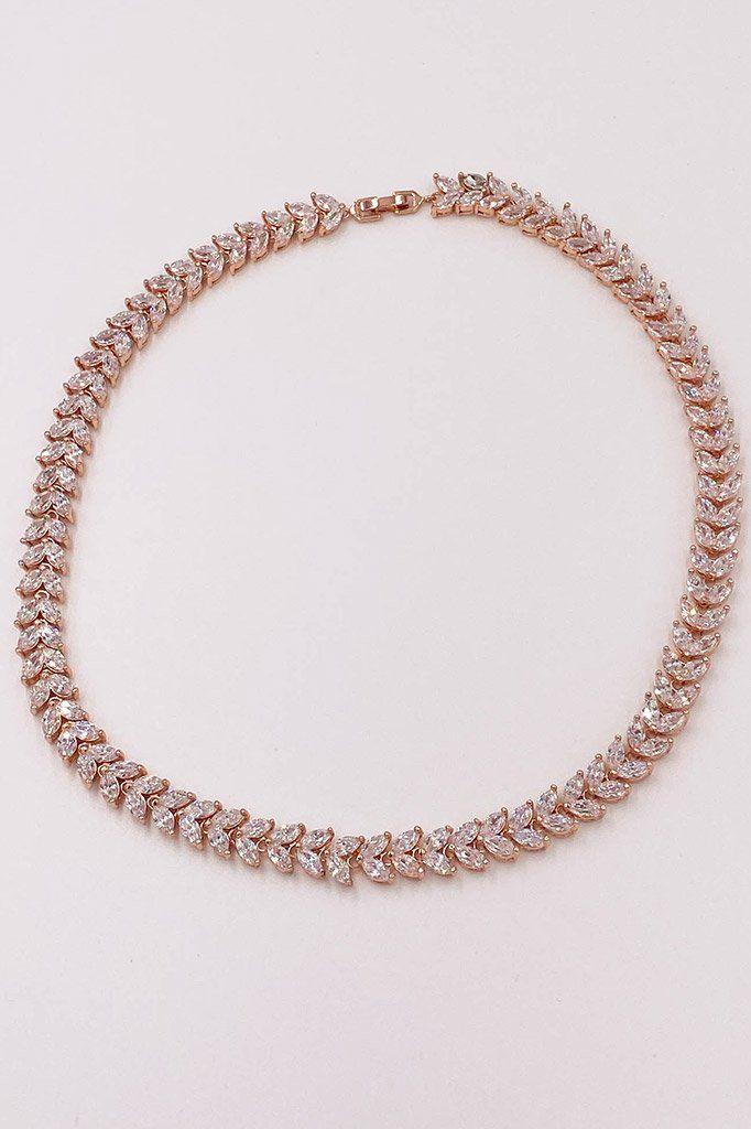 Celebration Rose Gold Rhinestone Necklace 3