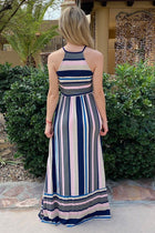 Chasing Sunshine Multi Striped Sleeveless Maxi Dress 3