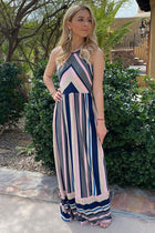 Chasing Sunshine Multi Striped Sleeveless Maxi Dress 1