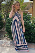 Chasing Sunshine Multi Striped Sleeveless Maxi Dress 4
