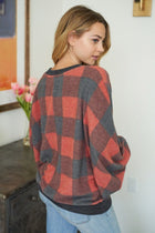 Check It Red Buffalo Plaid Pullover Sweatshirt 2