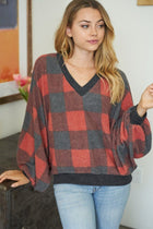 Check It Red Buffalo Plaid Pullover Sweatshirt 1