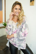 Chill With Me Pink Tie-Dye Knit Pullover Sweater 3