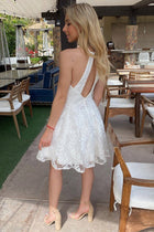 City Of Love White Lace Halter Skater Dress 4