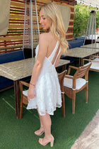 City Of Love White Lace Halter Skater Dress 2