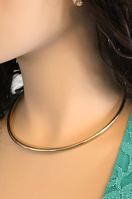 Completely Charming Gold Collar Necklace