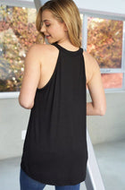 Cutting It Loose Black Sleeveless Top 2