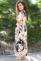 Dance The Night Away Pink Floral Wrap High Low Maxi Dress 3