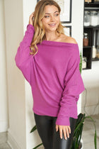 Double The Fun Magenta Off The Shoulder Top 3