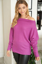 Double The Fun Magenta Off The Shoulder Top 1