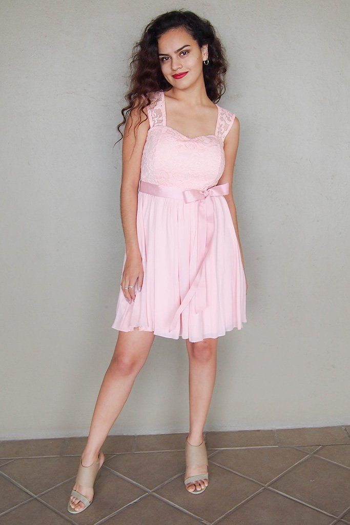Endless In Elegance Pink Lace Skater Dress 2