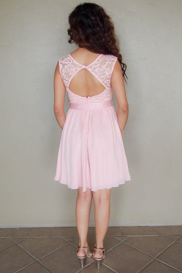 Endless In Elegance Pink Lace Skater Dress 4