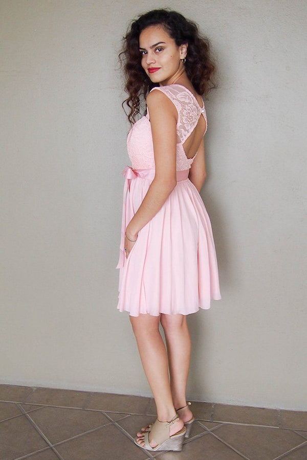 Endless In Elegance Pink Lace Skater Dress 3