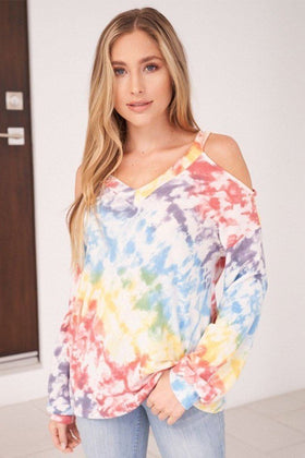 Everyday In Paradise Multi Tie Dye Top 1
