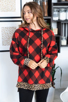 Fall Instantly In Love Red Buffalo Plaid Hoodie 3