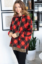 Fall Instantly In Love Red Buffalo Plaid Hoodie 4