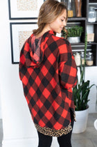 Fall Instantly In Love Red Buffalo Plaid Hoodie 2