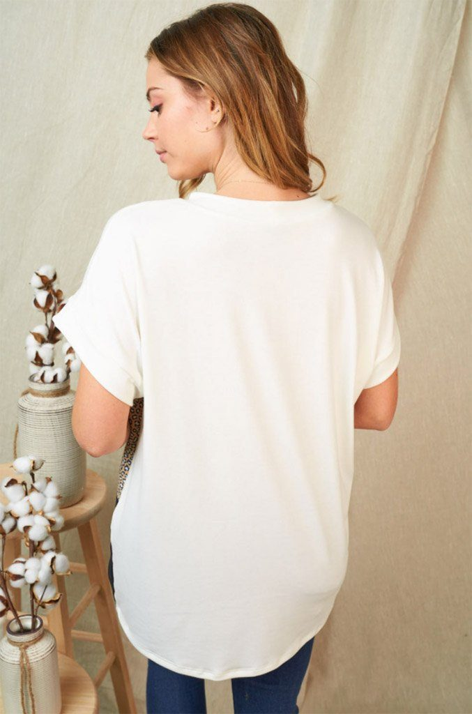Fashionably Fierce Cream Colorblock Top 2