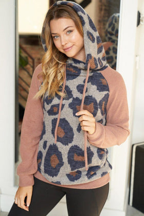Feel The Power Bronze Cheetah Print Hoodie 1