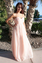 First Comes Love Blush Pink Strapless Maxi Dress 4