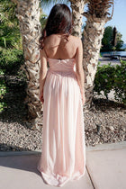 First Comes Love Blush Pink Strapless Maxi Dress 3