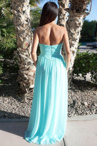 First Comes Love Light Blue Strapless Maxi Dress 3