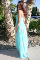 First Comes Love Light Blue Strapless Maxi Dress 2