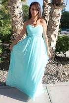 First Comes Love Light Blue Strapless Maxi Dress 4