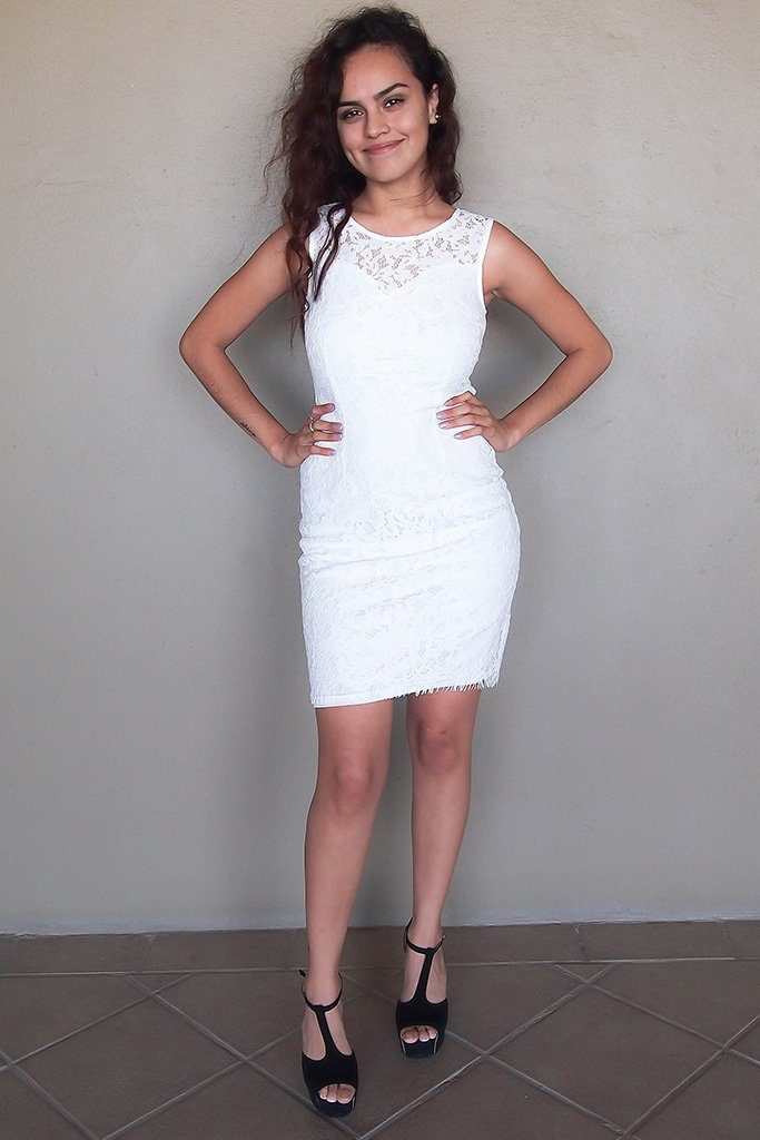 Flirting With Desire White Lace Midi Dress 4